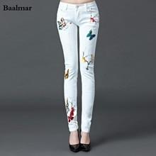 Baalmar Jeans Woman 2017 Spring Mid Waist Jeans Female Casual White Boyfriend Jeans Pants Capris Skinny Jeans Woman