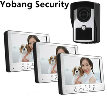 Yobang Security 7inch Night Vision Rainproof Video Intercom door Bell phone Waterproof Doorbell Camera Video Door bell Phone