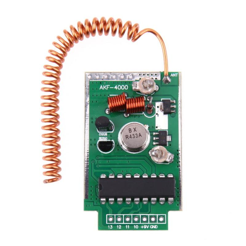 US $4 17 11% OFF|vanpower DC 9V RF 433Mhz Transmitter Module Kit for  Arduino ARM Launch Distance 4000 Meters Large Power 49x30x10mm-in Remote  Controls