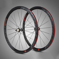 Road 700C Wheelset C6.0 Four Bearing 40mm Depth Profile 18 Hole 21 Hole Road Wheels For Bicycle Racing