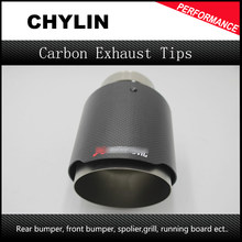 1Pcs car-stying Inlet 63mm to Outlet 101mm Akrapovic Carbon Exhaust Tip, Escape Akrapovic Muffler Tip(China)