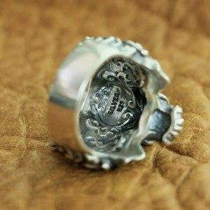 Image 3 - LINSION 925 Sterling Silver High Details Tiger Ring Mens Biker Punk Ring TA130 US Size 7~15