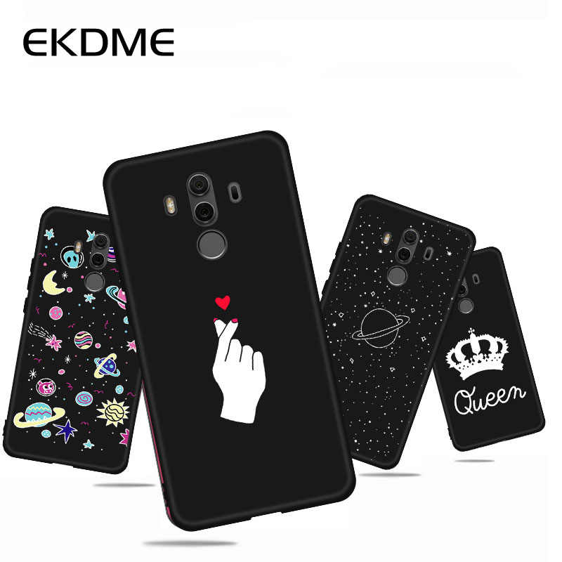 Phone Case For Huawei P20 Pro P10 P8 P9 Lite 2017 Mate 10 Nova 2i Soft Silicone Heart Leave Back Cover For Honor 9i 8 Lite Cases