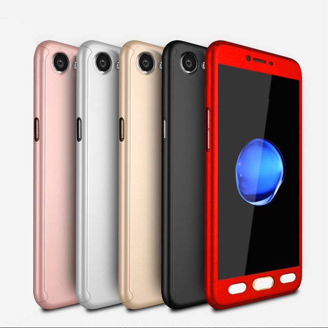 buy online 2d497 9f4f6 US $3.22 8% OFF|Full Coverage Phone Case for OPPO F1S F1 Plus Phone Back  Cover + Free Tempered Glass-in Fitted Cases from Cellphones & ...