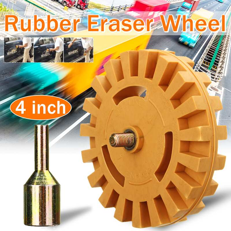 4 Inch 9.9cm Pneumatic Tools Air Tire Buffer Tire Glue Remove Rubber Wheel Eraser Air Die Grinder Wheel for Electric Drill|Pneumatic Tools| |  - title=