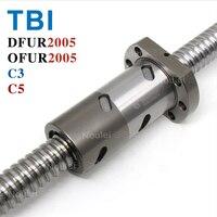 TBI C3 C5 2005 ШВП 5 мм привести с DFU2005 OFU2005 Двухместный Ballnut ЧПУ анти люфт 1000 мм 300 мм 400 мм 500 мм 600 мм 800 мм