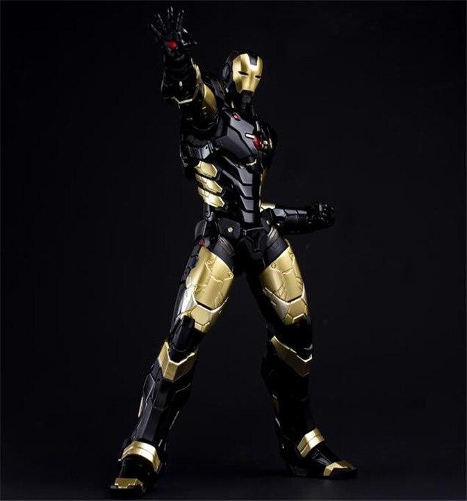 HC ЖЕЛЕЗНЫЙ ЧЕЛОВЕК Марк МК 42 Черное золото с светодиодный свет ПВХ фигурку Коллекционная модель игрушки 28 см Ironman
