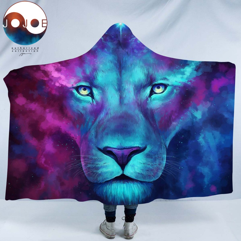 Firstborn by JoJoesArt Hooded Blanket for Adults Sherpa Fleece Psychedelic Lion 3d Print Microfiber Wearable Blanket on Bed Sofa|Blankets|   - AliExpress