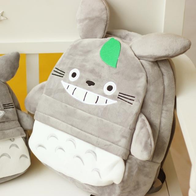 25/35 cm Envío de La Gota Gris Totoro felpa Mochilas Hombros del morral de la felpa de totoro de peluche juguetes de peluche muñeca de Los Niños bolsa