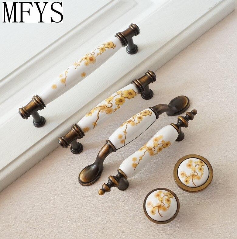 3 3.75 5 5 5 ceramic dresser cômoda cerâmica alças ameixa flor porcelana botões armário de cozinha puxa puxador de gaveta alças de ferragens de cozinha