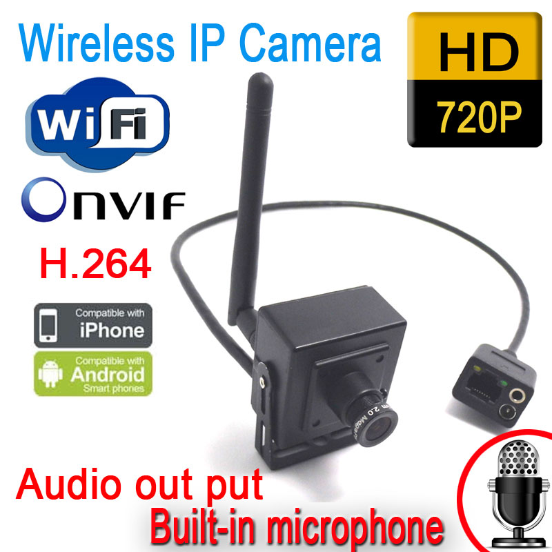 cctv mini ip camera wifi surveillance system wireless home security 720p support onvif audio. Black Bedroom Furniture Sets. Home Design Ideas