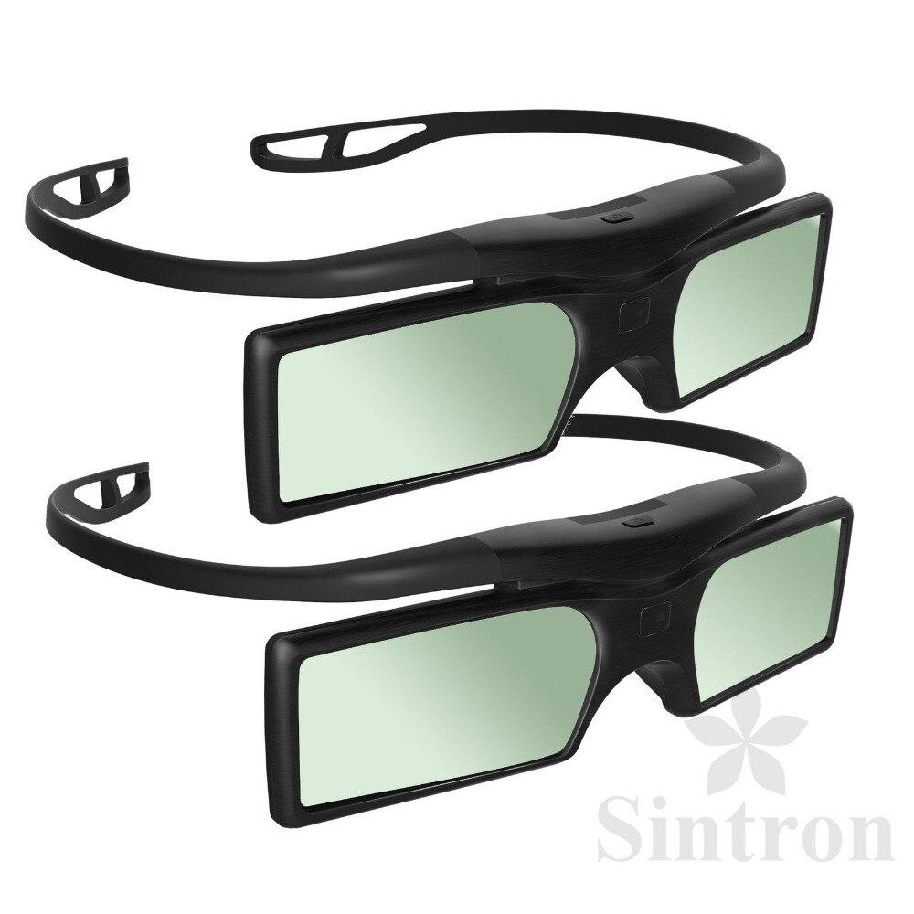 [Sintron]NEW 2015 3D Ready DLP-LINK 96hz - 144hz Active Shutter <font><b>Glasses</b></font> For <font><b>Optoma</b></font> Sharp Acer BenQ Projector,W1070,Free Shipping