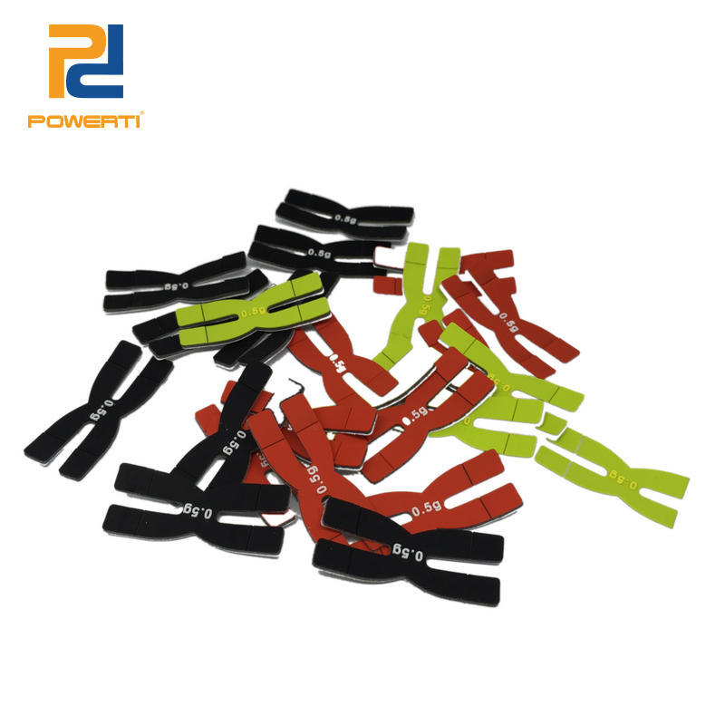 Powerti 6pcs 0.5g Badminton Racket Weight and Balance Strips Badminton Racquet Balancer Type H Shape Silicone