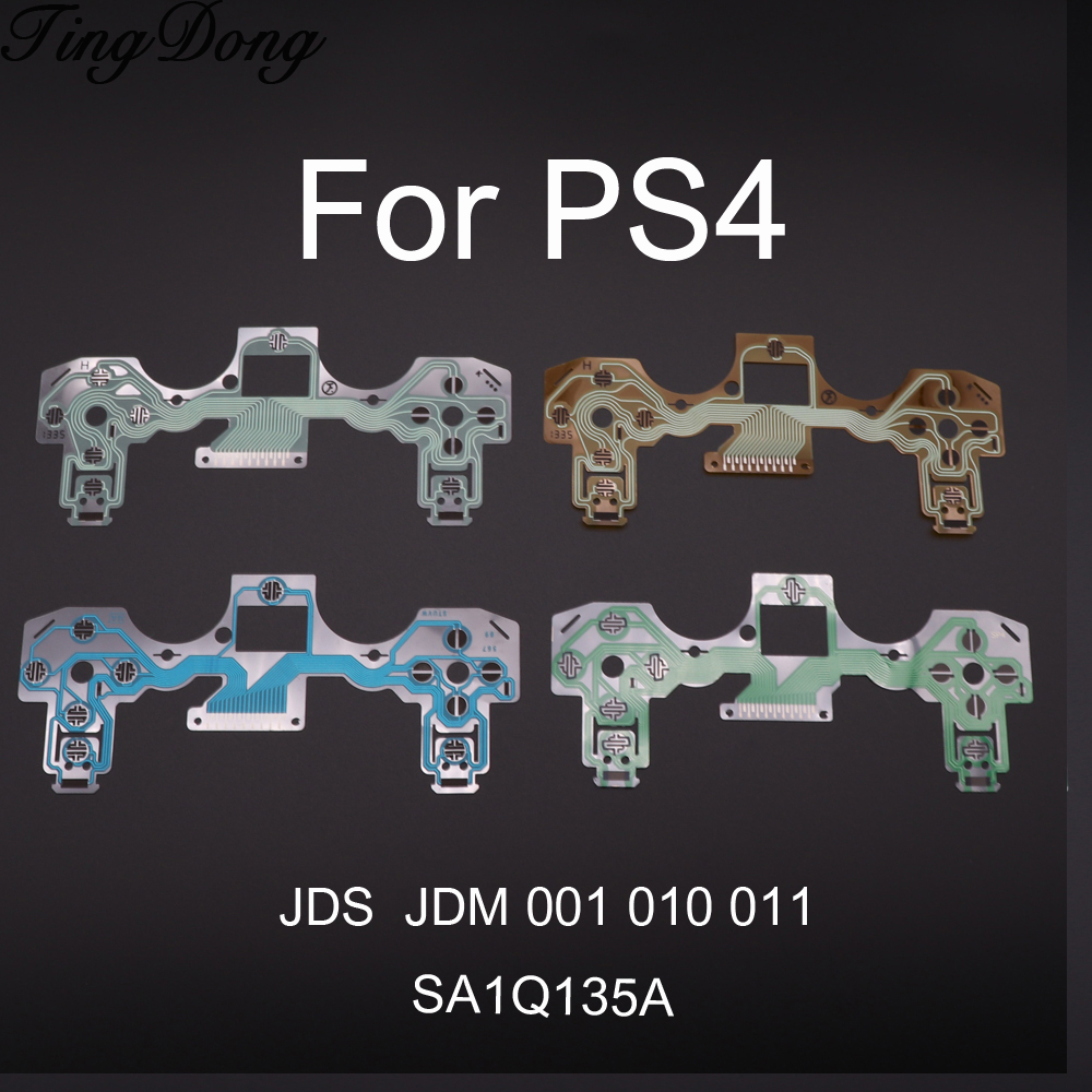 TingDong Circuit Board PCB Ribbon For Sony For PS4 Wireless Controller Conductive Film Keypad Flex Cable JDS JDM 001 011