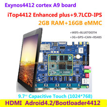 Cortex A9 Quad core Exynos4412  iTop4412 Enhanced plus + 9.7inch  , 2G RAM + 16G Flash , 3G GPS Bluetooth wifi HDMI Android 4.2