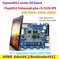Cortex A9 Quad core Exynos4412 iTop4412 משופר בתוספת + 9.7 אינץ, 2 גרם RAM + 16 גרם פלאש, 3 גרם GPS Bluetooth wifi HDMI אנדרואיד 4.2