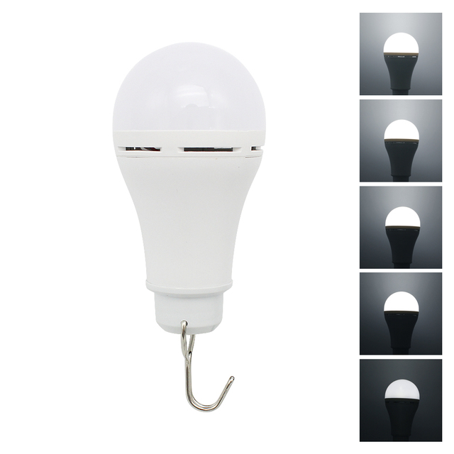Outdoor USB LED Bulb Light 3 Colors Adjustable Dimmable Portable Lanterns For Camping Fishing Hiking Tent Emergency Night Lamp 4