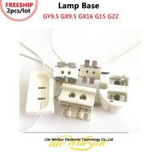 Litewinsune FREESHIP lamba tabanı lamba tutucu lamba soketi GY9.5 GX9.5 GX16 G15 G22 için sahne aydınlatma lambası