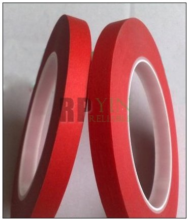1x 5mm*33 meters *0.25mm Red High Temperature PET Masking Adhesive Tape for PCB SMT / ESD Coating /Automobile Coating Shielding