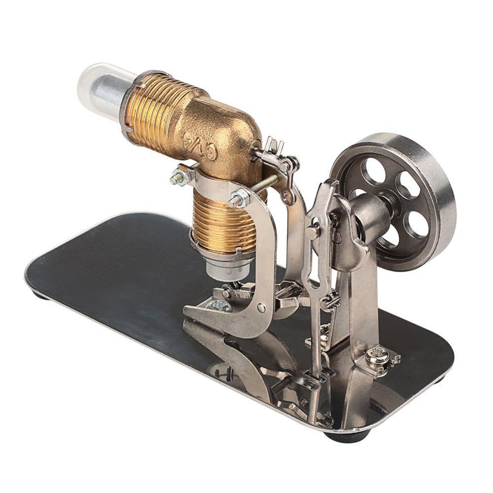 Mini Hot Air Stirling Engine Motor Model Educational Toy Kits diy mini hot air stirling engine motor model science