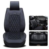 GSPSCN из натуральной кожи подушки сиденья автомобиля квадратный Стиль Авто сиденья автомобиля роскошные кожаные чехлы 5 мест для четырех seasons
