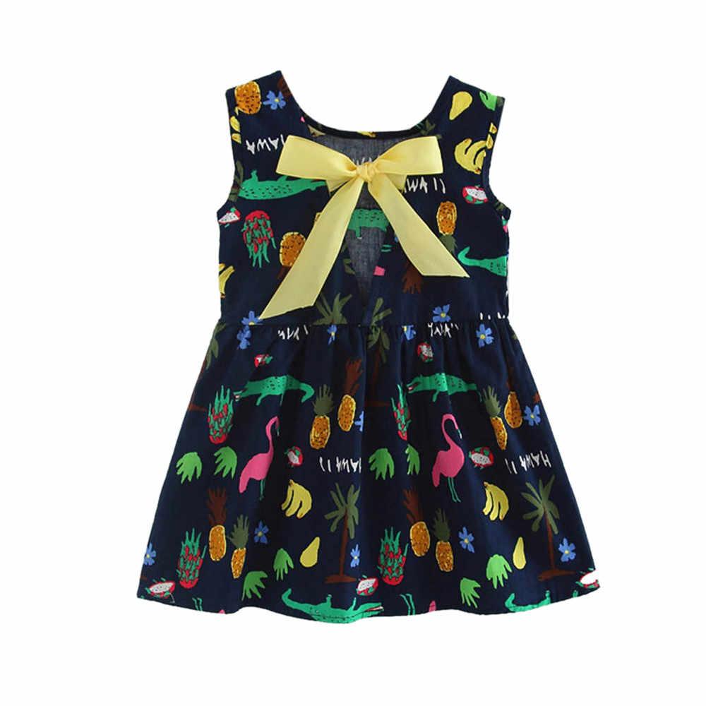Đầm bé Gái Đầm Mùa Hè Bé Gái Công Chúa trẻ sơ sinh Cho Bé Hoạt Hình In Quần Áo Đảng đám cưới sinh nhật Đầm vestidos bebes 5