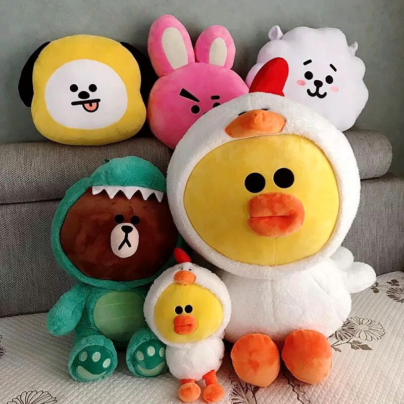 Plush Pillows 1 Pc Cute Brown Bear Turned To White Rabbit Yellow Chick Plush Pillow Cartoon Animal Plush Doll Plush Toy For Kids Gift Comfortable And Easy To Wear