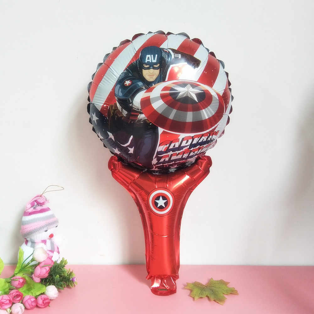 XXYYZz Железный человек, супергерой паук-человек ручная Волшебная ракетка ручная волшебная палка на день рождения Алюминиевая оптовая продажа шариков и игрушек