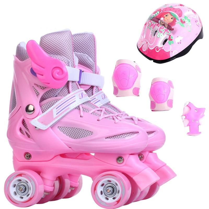 Girl 4 Wheel Roller Skates Shoes Infantil Patins Quad