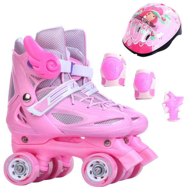 Girl 4 Wheel Roller Skates Shoes Infantil Patins Quad