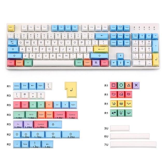 PBT SA chalk Keycaps set  158 keys Cherry MX switch keycaps for Wired USB Mechanical Gaming keyboard