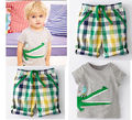 2pcs suit !!! Baby Kid Boys Crocodile Dinosaur Outfit Suits T-shirt+Pants Summer Costume