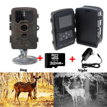 Free Shipping!32GB Card+ H801W 12MP Infrared IR Digital Trail Game Hunting Camera +6V 2A Adaptor