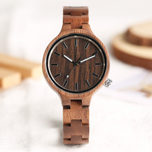 Casual Full Bamboo Wooden Women Wrist Watch Female Nature Wood Quartz Bangle Watches Girl Gift Relogio aquamarine yellow color dial full wooden watch men nature wood ebony bangle creative women watches quartz fashion clock 2018 new