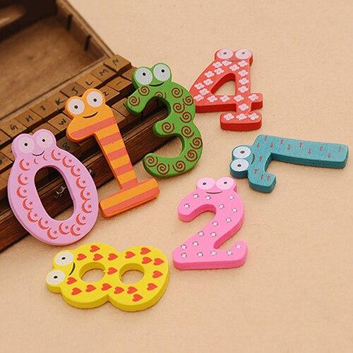 Новый 10 шт. милые деревянные магнит на холодильник номер 0-9 детская красочная развивающая игрушка набор