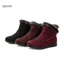 Новинка года; зимние женские теплые хлопковые ботинки для пожилых людей; большие размеры; зимние ботинки; женская бархатная хлопковая обувь; Botas Mujer