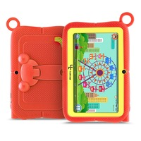 YUNTAB 7 inch Q88R Tablet PC with Parental Control iWawa Software for Learning with Chic stand Case (orange)
