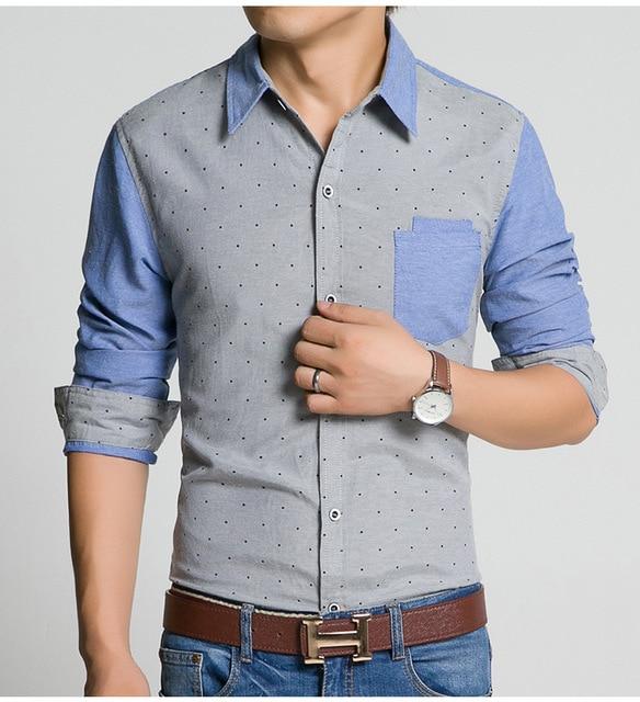 Хорошее качество aliexpress 2016 весной новой Корейской версии горячей продажи моды для Мужчин городской тенденция нагрудные С Длинным рукавом рубашка Дешевые оптовая