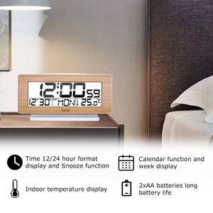 Image 2 - FanJu FJ3523 Digital Alarm Clock LED Electronic 12H/24H Alarm and Snooze Function Thermometer Backlight Desktop Table Clocks