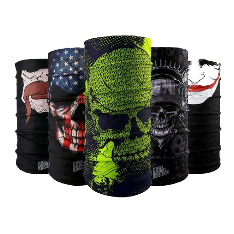 COOL Skull Cycling Cap Scarf Women Men Bicycle Bike Anti Dust Balaclava Mask Thin Airsoft Paintball Magic Scarves Bandana