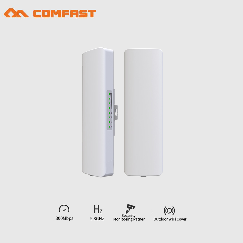 4pcs 3KM Comfast Outdoor wireless AP High power Wireless bridge Long Range CPE 5.8G WIFI Signal Booster Amplifier wifi repeater comfast outdoor wireless ap wifi router 300mbps 1 3km 500mw high power wifi signal booster amplifier ap cpe with 2 16dbi antenna