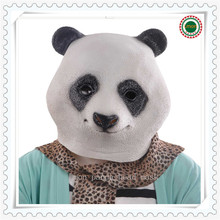 Hot Slae Big Discount!!!1pcs Animal Panda Head Mask Latex Panda Mask Giant Panda Wigs Animal Cosplay Wigs Masks Freeshipping