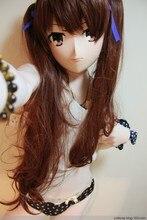 (KM83111) Top Quality Handmade Female Resin Full Head Cosplay Japanese Role Play Anime Kigurumi Mask Crossdresser Doll