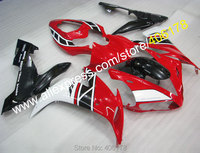 Hot Sales,For YAMAHA YZF1000 R1 2004 2005 2006 YZF R1 YZFR1 04 05 06 YZF R1 Red white black fairing kit (Injection molding)
