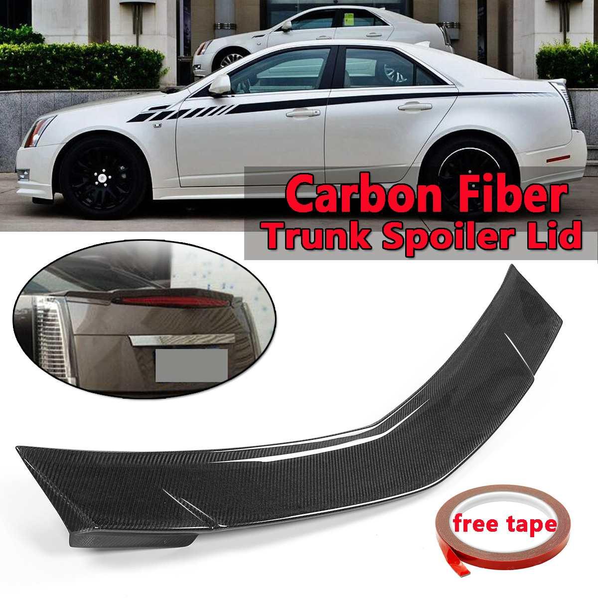 Автомобильный настоящий карбоновый задний спойлер багажника крыла для Cadillac CTS Седан 2008-2013 заднего крыла спойлер заднего багажника крыла