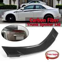 Car Real Carbon Fiber Rear Trunk Spoiler Lid Wing For Cadillac CTS Sedan 2008 2013 Rear Wing Spoiler Rear Trunk Roof Wing