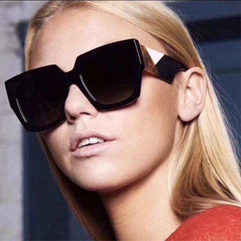 2018 модный тренд Женские квадратные стильные градиентные винтажные F солнцезащитные очки классика ретро фирменный дизайн солнцезащитные очки Oculos De Sol 0263