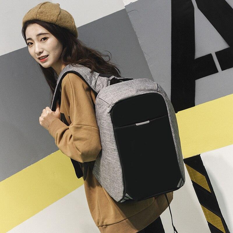 Anti-voleur USB sac à dos sac à dos pour ordinateur portable pour femmes hommes école sac à dos sac pour garçon filles mâle voyage Mochila Oxford Notebook - 3