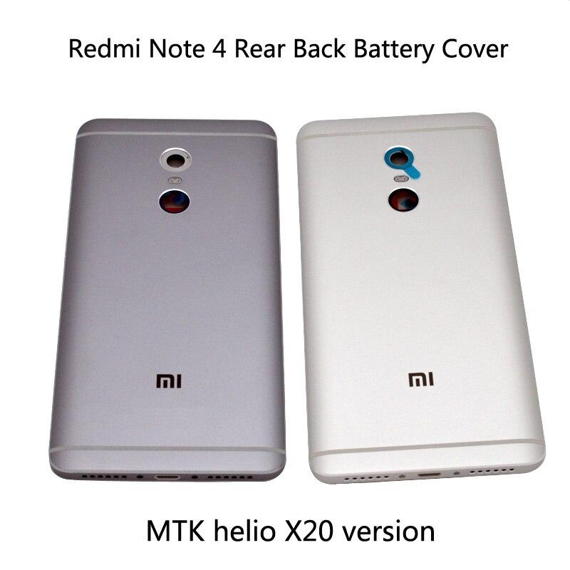 Pour Xiaomi Redmi Note 4 Couvercle de La Batterie Porte Arrière Retour Logement cas Note 4 Remplacement Pour MTK helio X20 version Couvercle de La Batterie