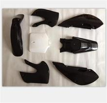 7pieces/1set new black plastic kit for 2002-2008 MOTORCYCLE KAWASAKI dirt pit bike KLX110 KX65